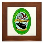USS Topeka SSN-754 Navy Ship Framed Tile