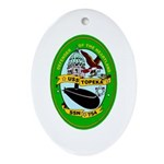 USS Topeka SSN-754 Navy Ship Oval Ornament