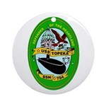 USS Topeka SSN-754 Navy Ship Ornament (Round)