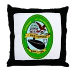 USS Topeka SSN-754 Navy Ship Throw Pillow