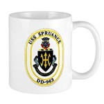 USS Spruance DD-963 Navy Ship Mug