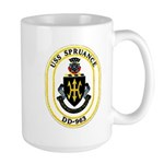 USS Spruance DD-963 Navy Ship Large Mug