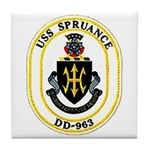 USS Spruance DD-963 Navy Ship Tile Coaster