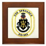 USS Spruance DD-963 Navy Ship Framed Tile