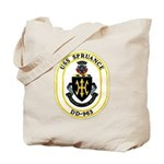 USS Spruance DD-963 Navy Ship Tote Bag