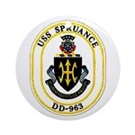 USS Spruance DD-963 Navy Ship Ornament (Round)