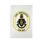 USS Spruance DD-963 Navy Ship Rectangle Magnet (10