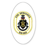 USS Spruance DD-963 Navy Ship Oval Sticker