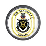 USS Spruance DD-963 Navy Ship Wall Clock