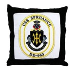 USS Spruance DD-963 Navy Ship Throw Pillow