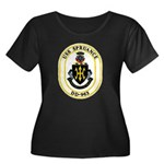 USS Spruance DD-963 Navy Ship Women's Plus Size Sc