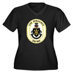 USS Spruance DD-963 Navy Ship Women's Plus Size V-