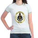 USS Spruance DD-963 Navy Ship Jr. Ringer T-Shirt