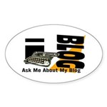 iblog Oval Sticker