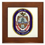 USS Salvor ARS 52 Navy Ship Framed Tile