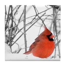 Red Cardinal Tile Coaster