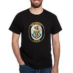 USS Russell DDG-59 Navy Ship Dark T-Shirt
