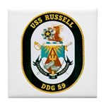 USS Russell DDG-59 Navy Ship Tile Coaster