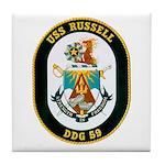 USS Russell DDG-59 Navy Ship Tile Coaster
