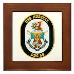 USS Russell DDG-59 Navy Ship Framed Tile