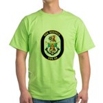 USS Russell DDG-59 Navy Ship Green T-Shirt