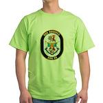 USS Russell DDG-59 Navy Ship Green T-Shirt