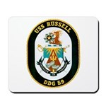 USS Russell DDG-59 Navy Ship Mousepad