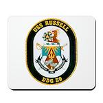 USS Russell DDG-59 Navy Ship Mousepad