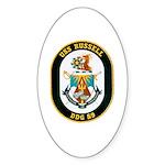 USS Russell DDG-59 Navy Ship Oval Sticker (50 pk)