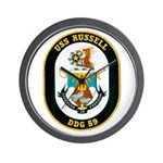 USS Russell DDG-59 Navy Ship Wall Clock