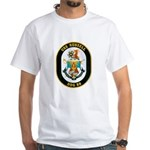 USS Russell DDG-59 Navy Ship White T-Shirt