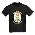 USS Russell DDG-59 Navy Ship Kids Dark T-Shirt