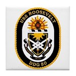 USS Roosevelt DDG-80 Navy Ship Tile Coaster