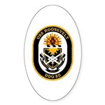 USS Roosevelt DDG-80 Navy Ship Sticker (Oval 10 pk