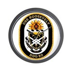 USS Roosevelt DDG-80 Navy Ship Wall Clock