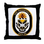 USS Roosevelt DDG-80 Navy Ship Throw Pillow
