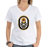 USS Roosevelt DDG-80 Navy Ship Women's V-Neck T-Sh