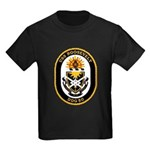 USS Roosevelt DDG-80 Navy Ship Kids Dark T-Shirt