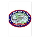 USS Ronald Regan CVN-76 Navy Ship Postcards (Packa