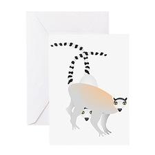Lemurs Card Greeting Cards