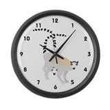 Lemurs Large Wall Clock