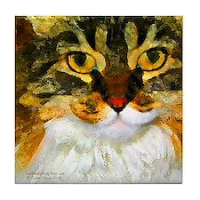 Kitty Close-Up Tile Coaster