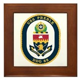 USS Preble DDG-88 Navy Ship Framed Tile