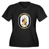 USS Porter DDG-78 Navy Ship Women's Plus Size V-Ne