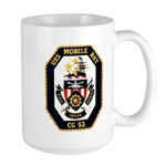 USS Mobile Bay CG-53 Navy Ship Large Mug