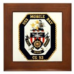 USS Mobile Bay CG-53 Navy Ship Framed Tile