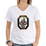 USS Mobile Bay CG-53 Navy Ship Women's V-Neck T-Sh