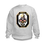 USS Mobile Bay CG-53 Navy Ship Kids Sweatshirt