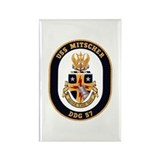 USS Mitscher DDG-57 Navy Ship Rectangle Magnet