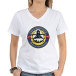USS Louisville SSN 724 Navy Ship Women's V-Neck T-